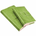 Colori Italian Leather Refillable Journal Green