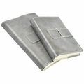 Colori Italian Leather Refillable Journal Grey