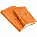 Colori Italian Leather Refillable Journal Orange