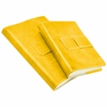 Colori Italian Leather Refillable Journal Yellow