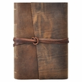 Dark Walnut One of a Kind Handmade Leather Journal