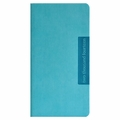 Faux Leather Slim Wallet 2014 Planner - Aqua