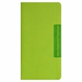 Faux Leather Slim Wallet 2014 Planner - Lime