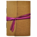 Georgia O'Keefe Handmade Leather Journal with Artist Papers