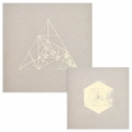 Gilded Geometric Kraft Notebook Set