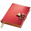 Graphic Image Genuine Leather Locking Diary
