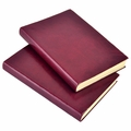 Harborview Leather Bound Journal - Cranberry