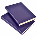 Harborview Leather Bound Journal - Violet