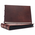 Intermezzo 14 x 10 Handmade Italian Distressed Leather Photo Album