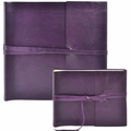 Islander Leather Photo Album Violet