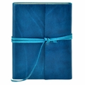 Islander Leather Wrap Journal - Azure