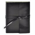 Islander Leather Wrap Journal - Black