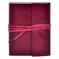 Islander Leather Wrap Journal - Cranberry