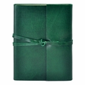 Islander Leather Wrap Journal - Emerald