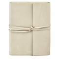 Islander Leather Wrap Journal - Ivory