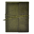 Islander Leather Wrap Journal - Olive