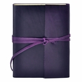 Islander Leather Wrap Journal - Violet