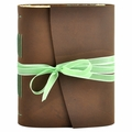 Jade Leather Journal with Artist Papers