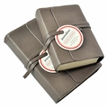 Journalino Pocket Leather Journal - Charcoal