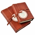 Journalino Pocket Leather Journal - Persimmon