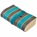 Lali Handmade Paper Stripe Notebook Turquoise