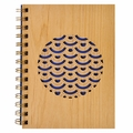 Laser Cut Wood Journal - Scallop Circle