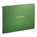 Leather Bound Guest Book Bright Green