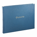 Leather Bound Guest Book Bright Blue