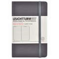 Leuchtturm 1917 Pocket Ruled Notebook Grey Linen