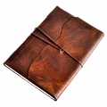 Luxury Old-World Leather Wrap Sketchbook with Amalfi Paper
