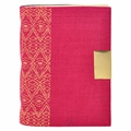 Mera Tribal Linen Journal Fuchsia