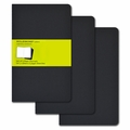 Moleskine Large Plain Cahier Journal: Set of 3 Black