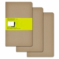 Moleskine Large Plain Cahier Journal: Set of 3 Kraft