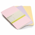 Moleskine Large Plain Cahier Set of 3 Pastels