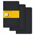 Moleskine Large Squared Cahier Journal: Set of 3 Black
