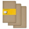 Moleskine Large Squared Cahier Journal: Set of 3 Kraft