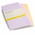 Moleskine Large Squared Cahier Set of 3 Pastels