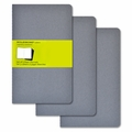 Moleskine Plain Cahier Journal Grey Large Set of 3