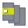 Moleskine Plain Cahier Journal Grey Pocket Set of 3
