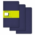 Moleskine Plain Cahier Journal - Navy Blue Large Set of 3
