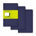 Moleskine Plain Cahier Journal - Navy Blue Pocket Set of 3