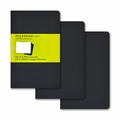 Moleskine Pocket Plain Cahier Journal: Set of 3 Black