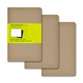 Moleskine Pocket Plain Cahier Journal: Set of 3 Kraft