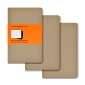 Moleskine Pocket Ruled Cahier Journal: Set of 3 Kraft