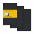 Moleskine Pocket Squared Cahier Journal: Set of 3 Black