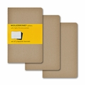 Moleskine Pocket Squared Cahier Journal: Set of 3 Kraft
