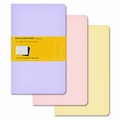 Moleskine Pocket Squared Cahier Set of 3 Pastels