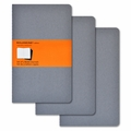 Moleskine Ruled Cahier Journal Grey Large Set of 3