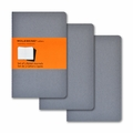 Moleskine Ruled Cahier Journal Grey Pocket Set of 3