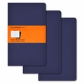 Moleskine Ruled Cahier Journal - Navy Blue Large Set of 3